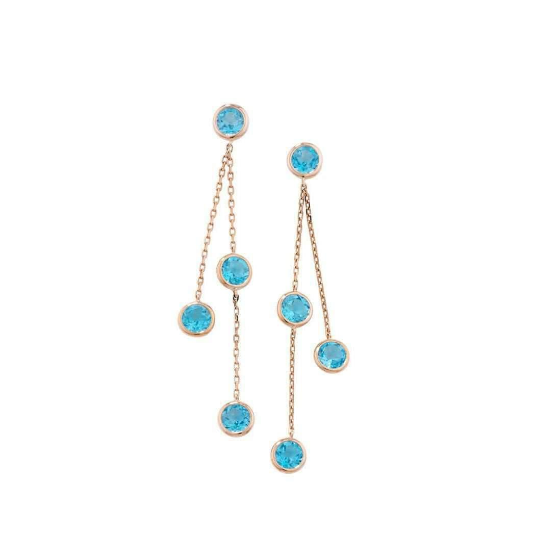 London Road Jewellery Pimlico Rose Gold Blue Topaz Drop Raindrop Necklace j5y6g8p