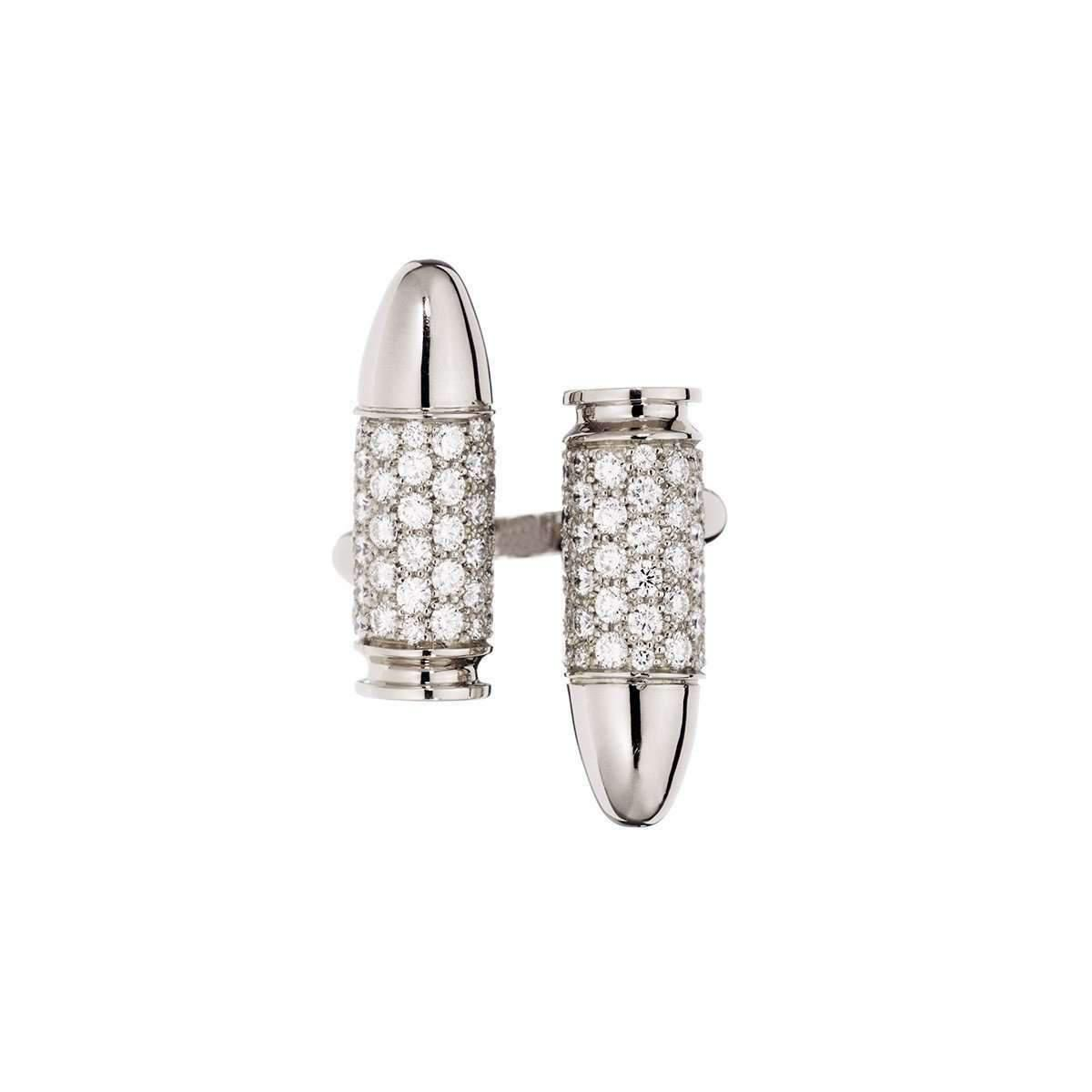 Akillis Bang Bang Toi and Moi White Gold Black Diamond Set Ring - UK L 1/4 - US 5 3/4 - EU 52 h9ecGd6Au