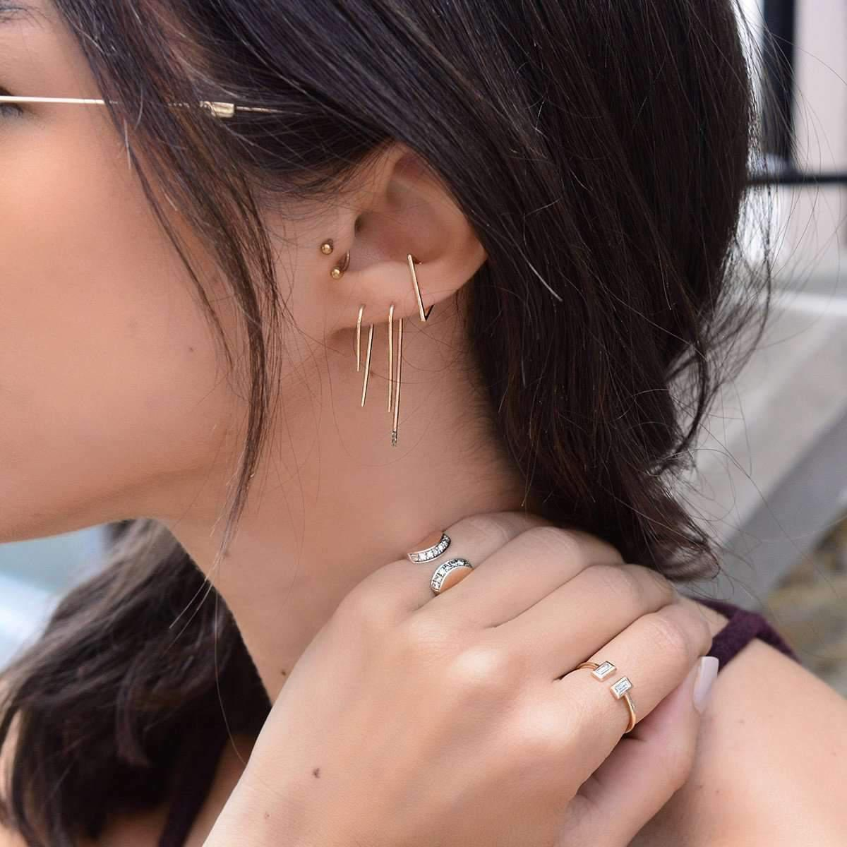 Jezebel London 14kt Rose Gold Charlotte Hook Earring aY0svj