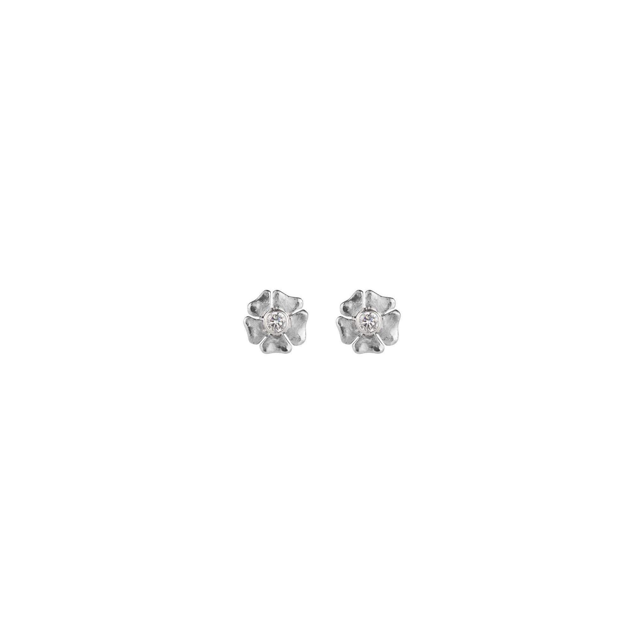 Luke Goldsmith Women S Palladium And Diamond Studs