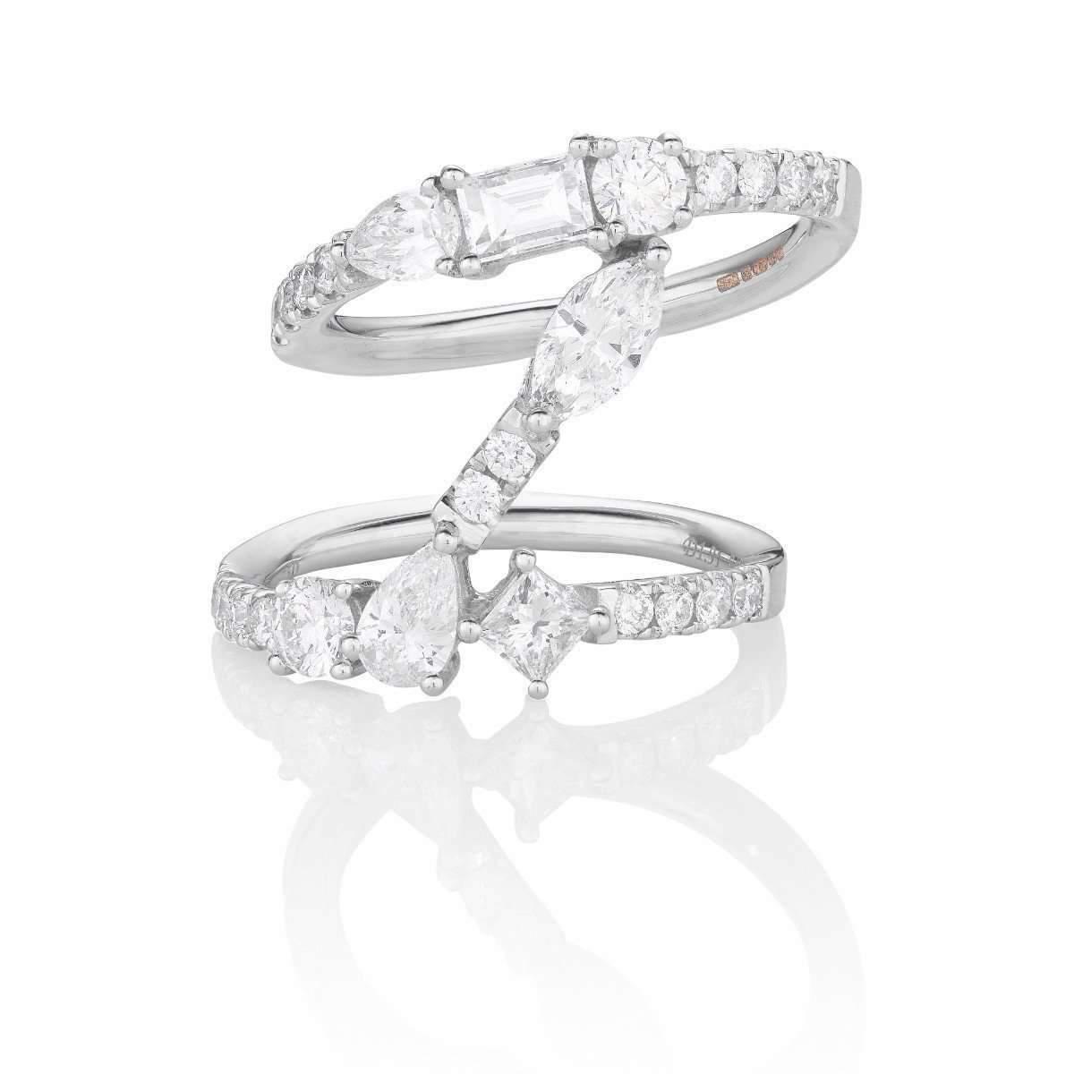 Sarah Ho Numerati Fancy Diamond Lucky Number 3 - UK M - US 6 - EU 52 3/4 WVJdYs