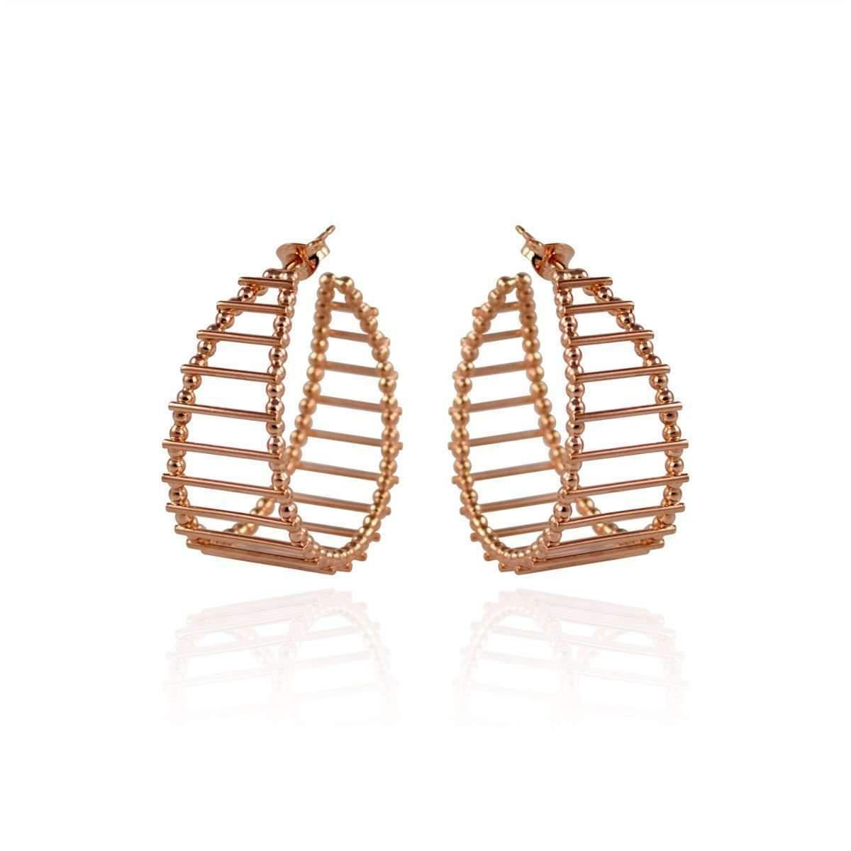 Cara Tonkin Gold Theda Stripe Hoop Earrings 21duiGdd