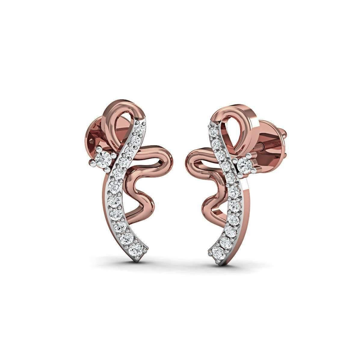 Diamoire Jewels Illimitable Diamond Stud Earrings in 18kt White Gold