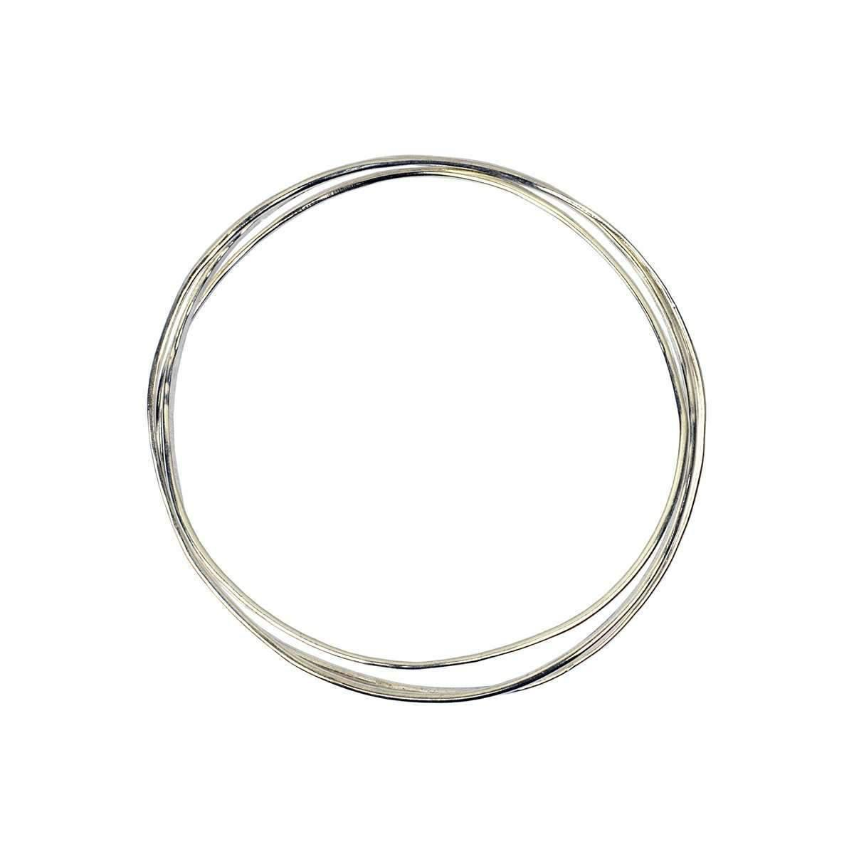 Fran Regan Jewellery Wave Silver 3 Tier Bangle M08wUmJ8n1
