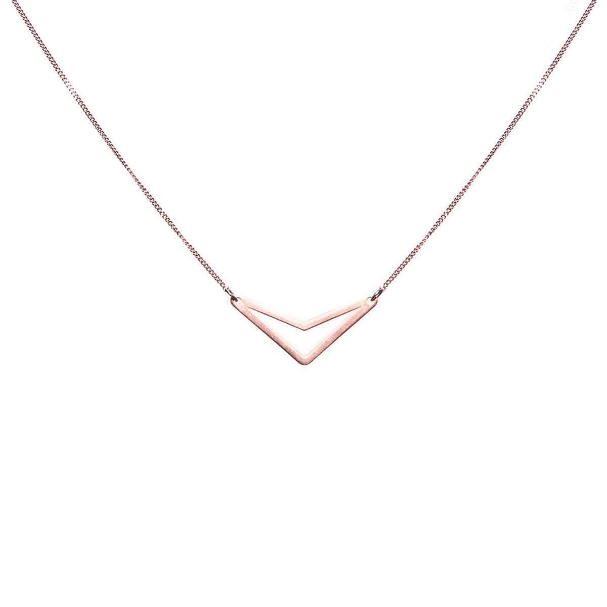 Dutch Basics Rose Plated Triangle tui Necklace F15Tujld