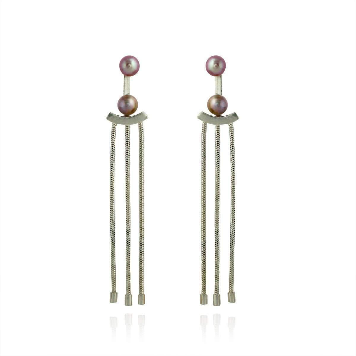 Cara Tonkin Rose Gold Orbit Tassel Front and Back Earrings 2xdzKFH3s