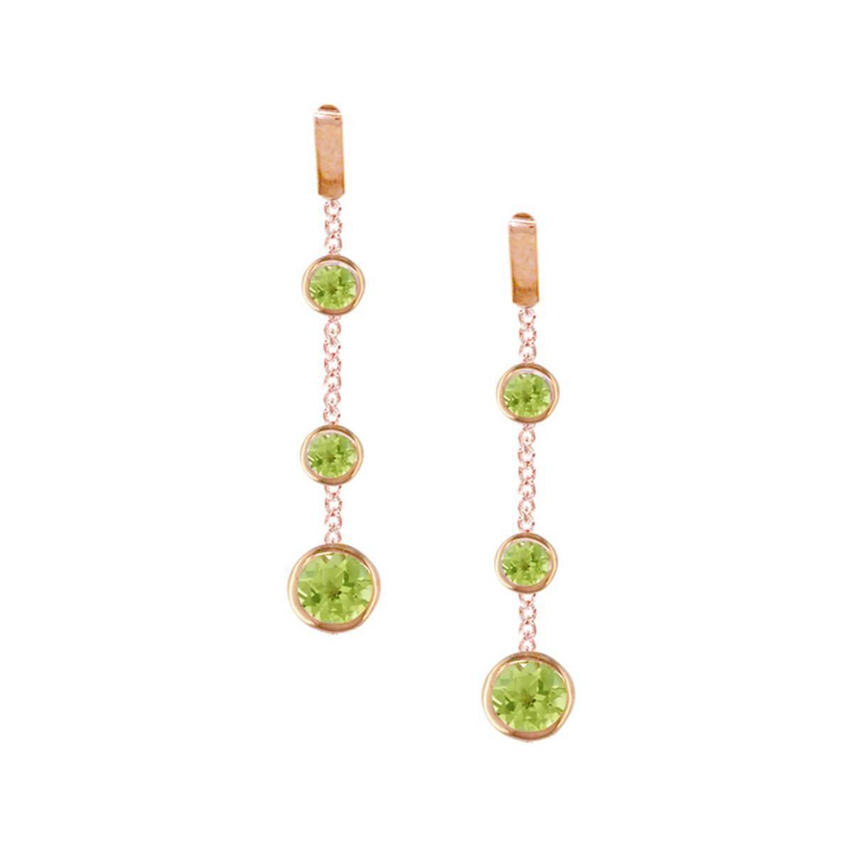 London Road Jewellery Dew Drop Rose Gold Peridot Hoop Earrings JFuX6Z