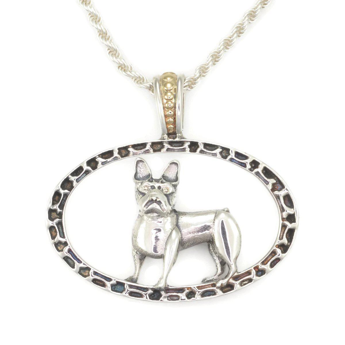 Donna Pizarro Designs Sterling Boxer Necklace With 14kt Accent qZNc7P0myx