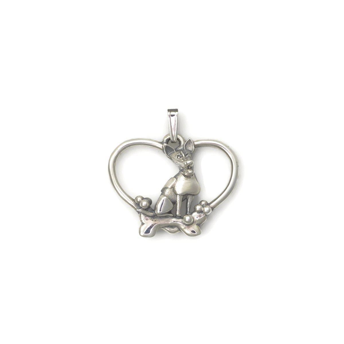 Donna Pizarro Designs Sterling Silver Jack Russell Terrier Necklace aZbW6AakD