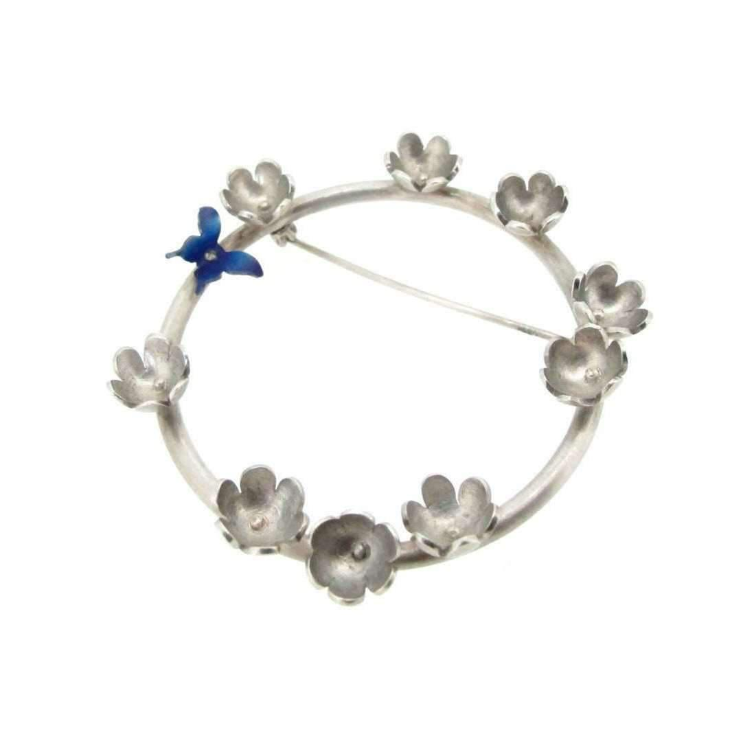 Sian Bostwick Jewellery Butterfly & Daisy Circlet Brooch qFeX2nhx