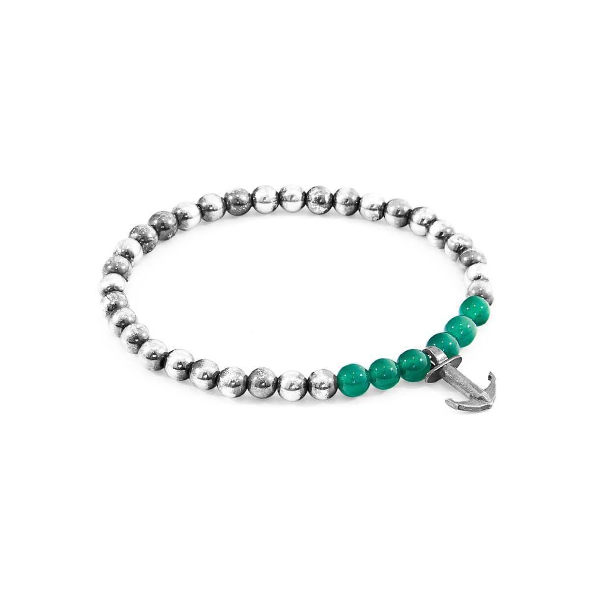 Anchor & Crew Black Onyx Keel Silver And Stone Bracelet - 19cm (most popular) z8nKhuJ2d2