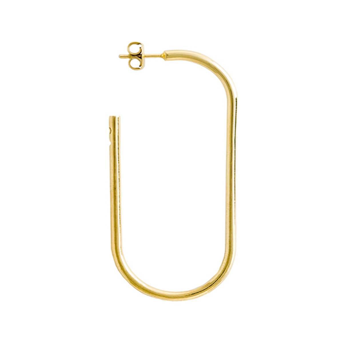 Glenda Lopez 18kt Gold Dipped Small Golden Link Earring Gwsb2gBlA