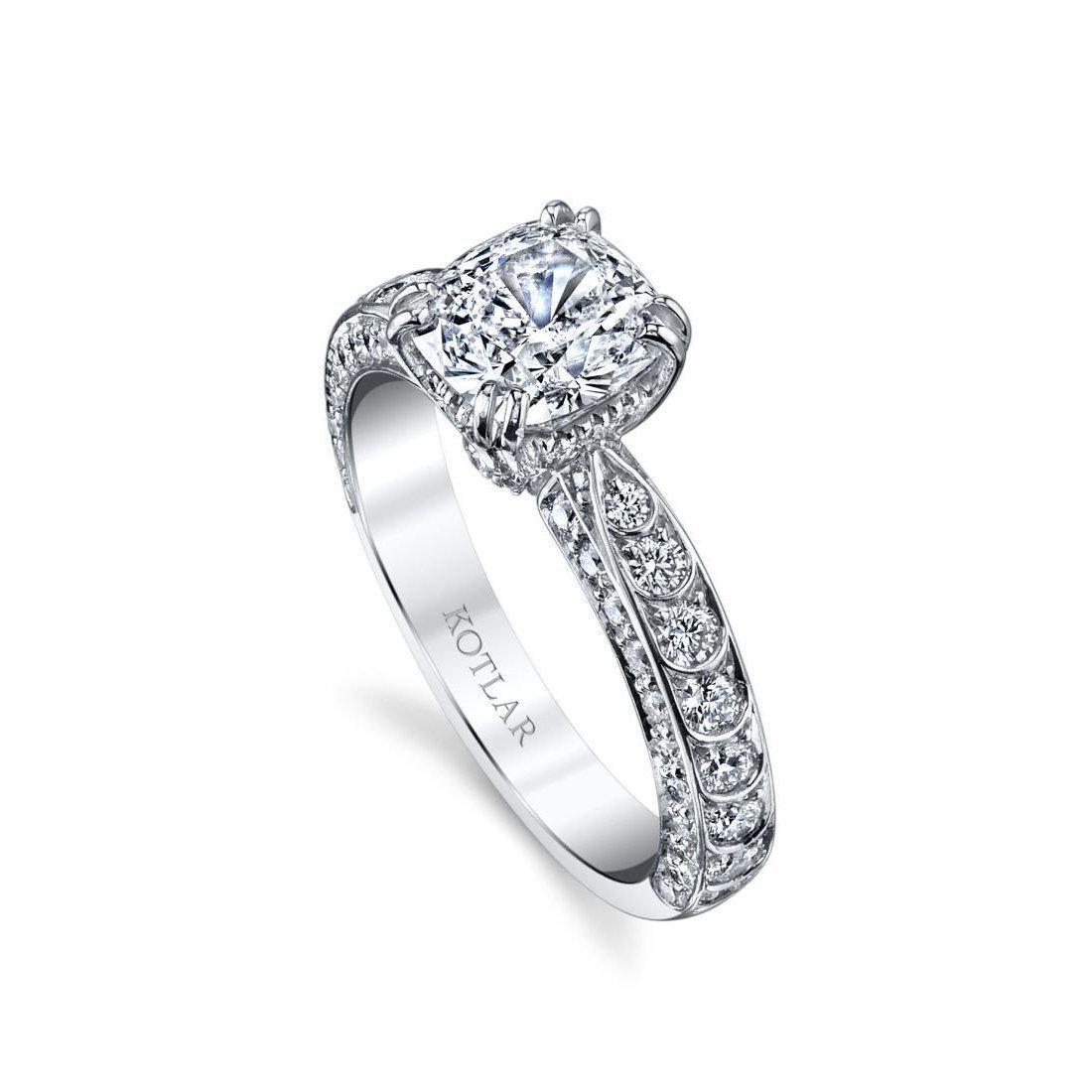 Harry Kotlar Round Brilliant Criss Cross Artisan Pave Ring - UK M - US 6 - EU 52 3/4 AJlBB