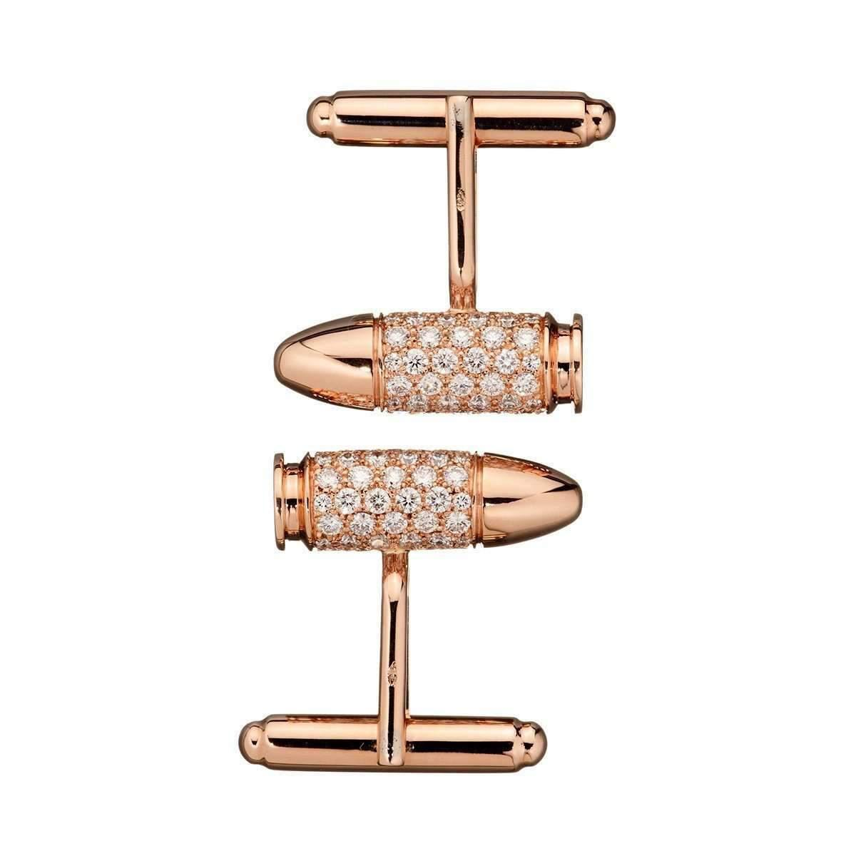 Akillis Bang Bang Rose Gold Cufflinks Nkzay