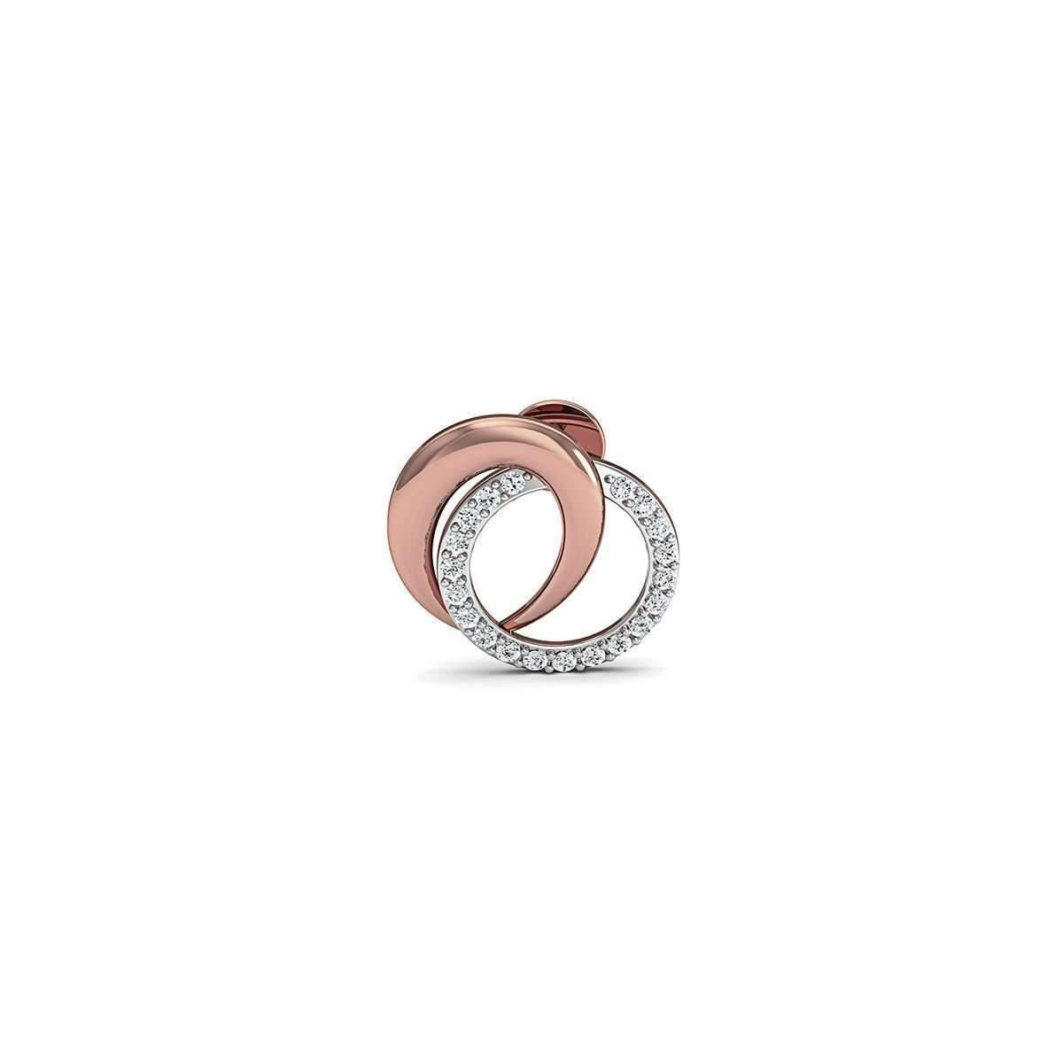 Diamoire Jewels 18kt Rose Gold Nature Inspired Pave Earrings with Premium Quality Diamonds aqppLIWS9C