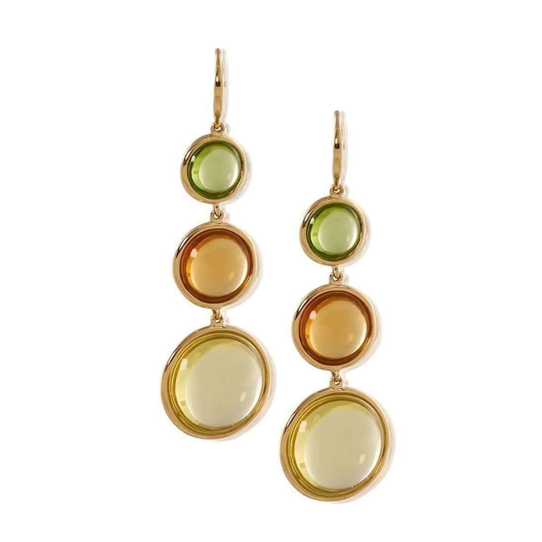 Goshwara Gossip Lemon Quartz & Peridot Earrings sAzEIwBU