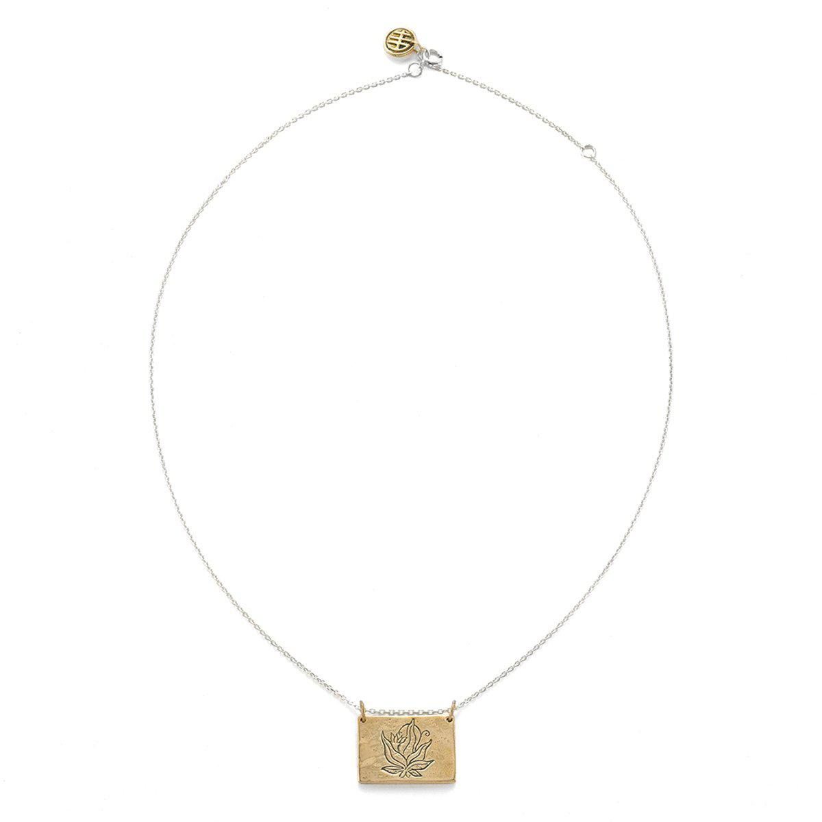 House of Alaia Four Agreements Book Necklace In Bronze 3d6RF5