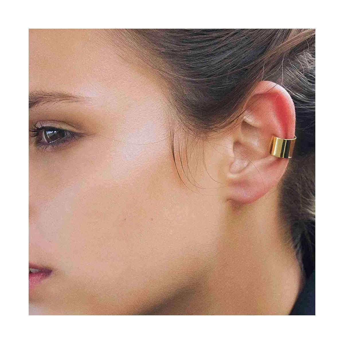 Dutch Basics Silver & Gold Plated Set Ear Cuff Thick T3OFTzkRP