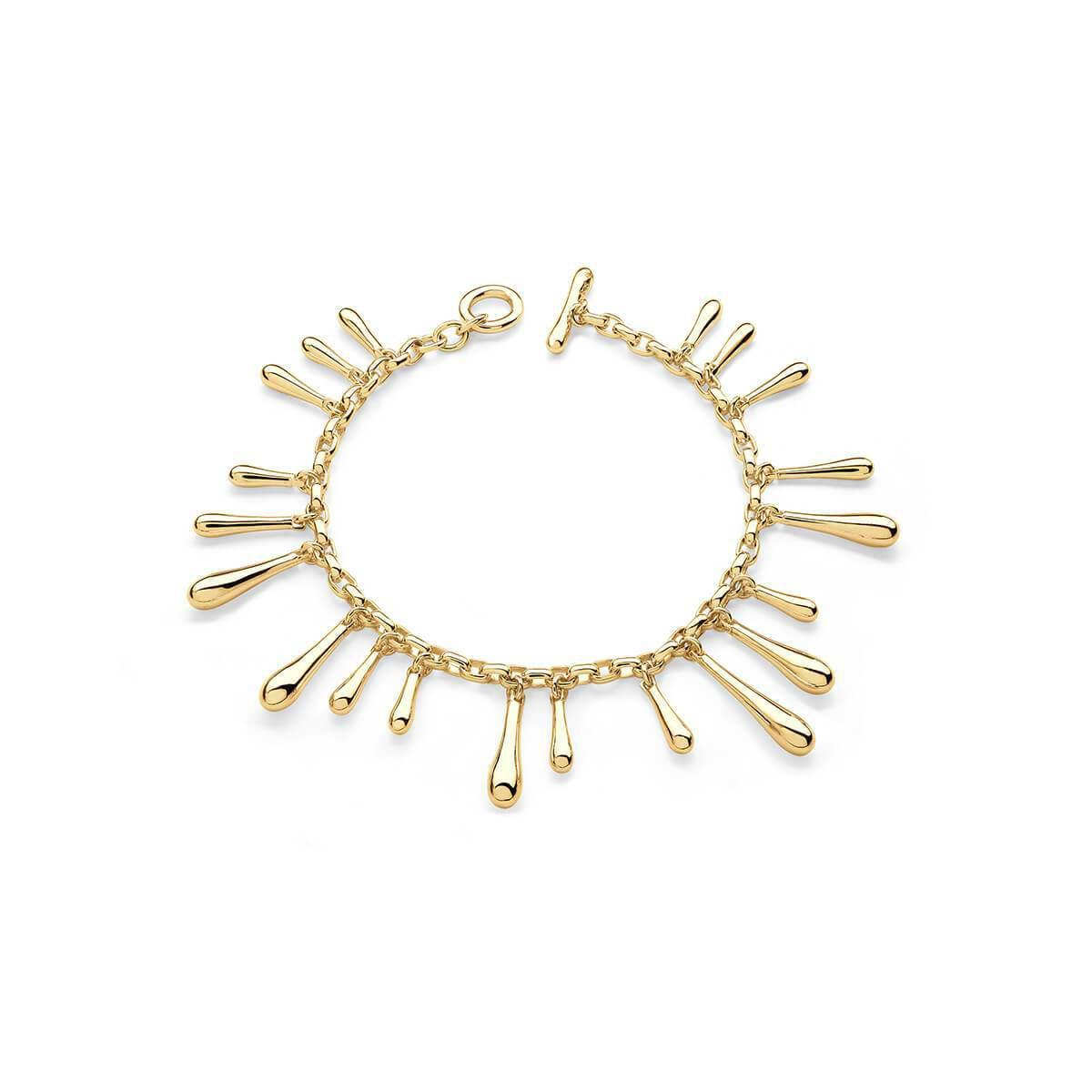 Lucy Quartermaine Short Drop Bangle Gold Plated yftEYo