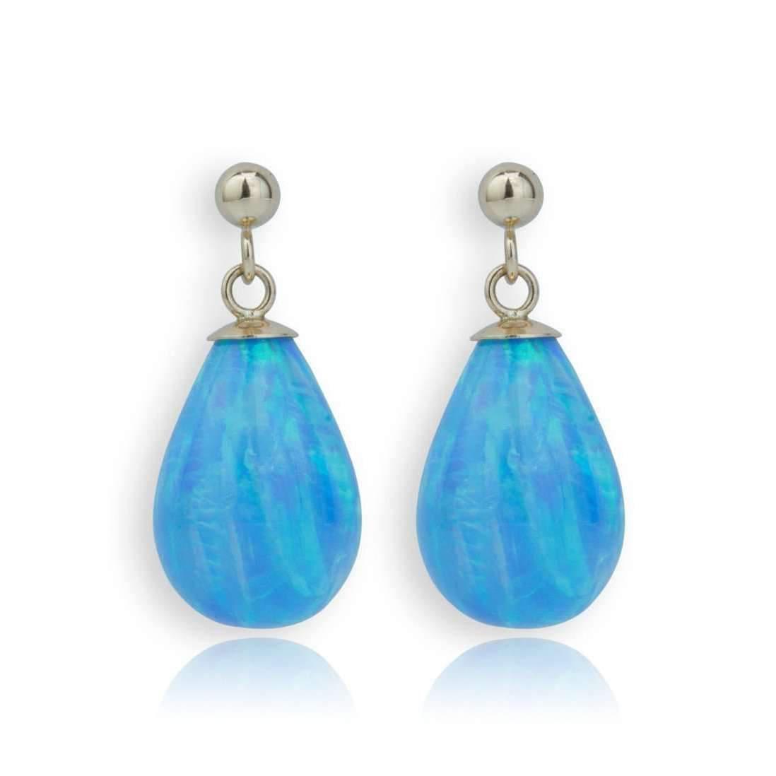 Lavan Blue Opal Teardrop Earrings fACIPW1B