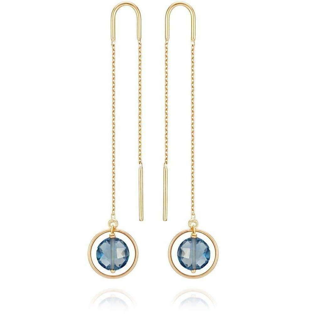 Perle de lune Ear Cuff 18kt Gold Blue Gemstones Cv47va