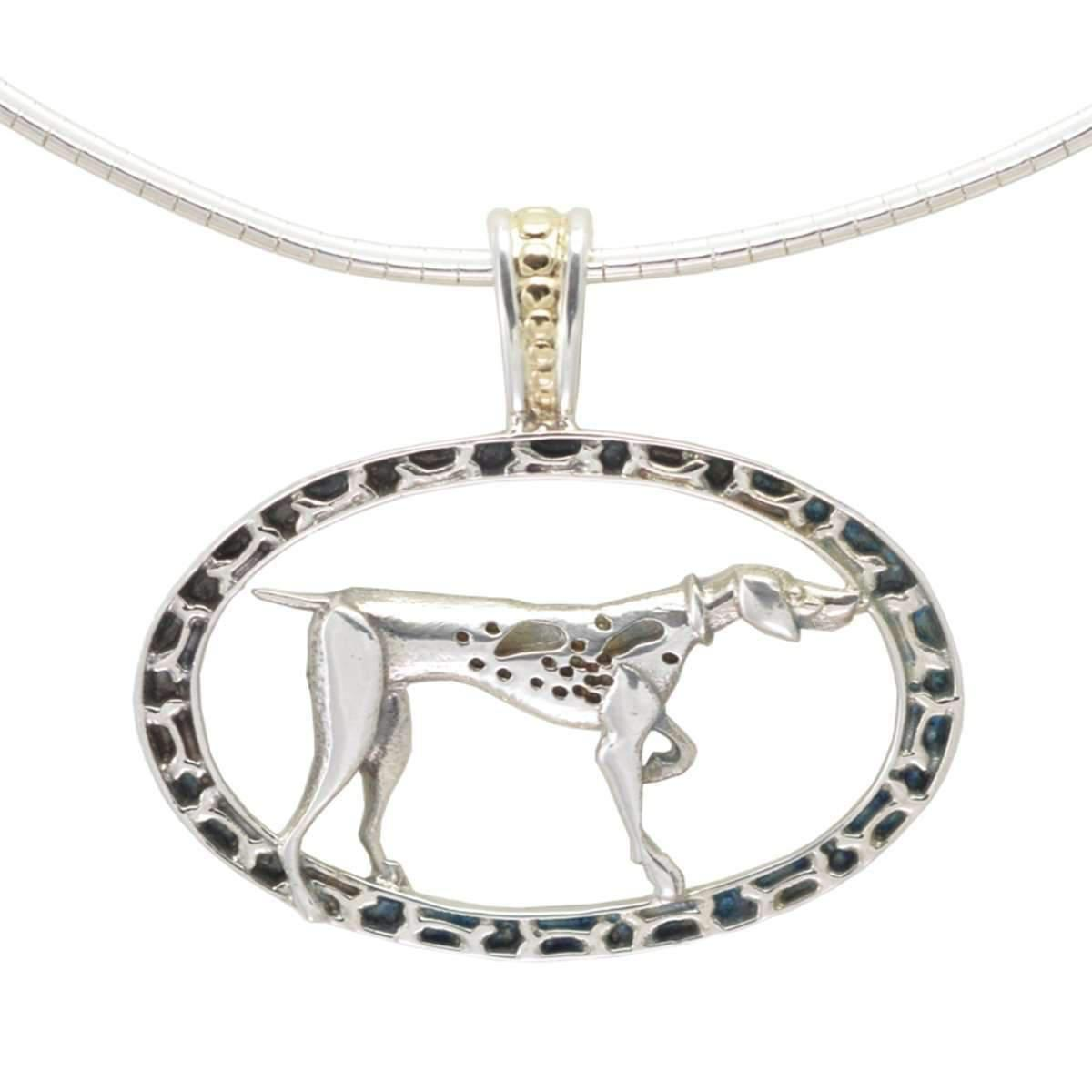 Donna Pizarro Designs Sterling Great Pyrenees Necklace With 14kt Accent 5evZepI4