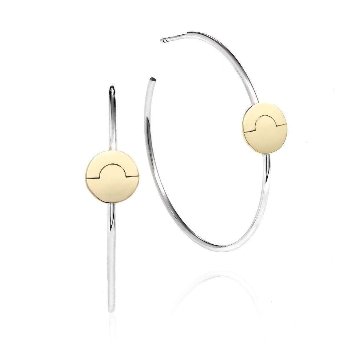 Lani Vincoli H8 - 14kt White Gold Hoop Earrings 4hgR3M0o