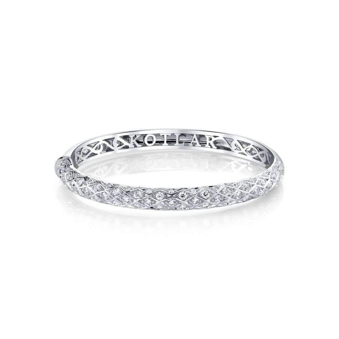 Harry Kotlar Kotlar Cushion diamonds & Pink diamonds Pave Link Bracelet 9TJAEgn