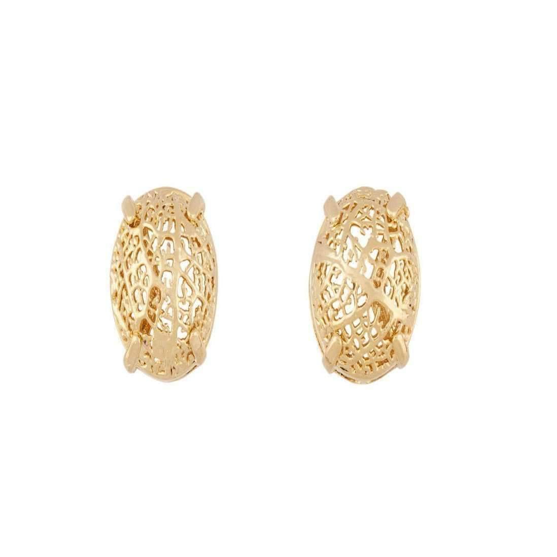Amazona Secrets 18kt Gold Savannah Box Earring With Claws mJPIOFiVyd