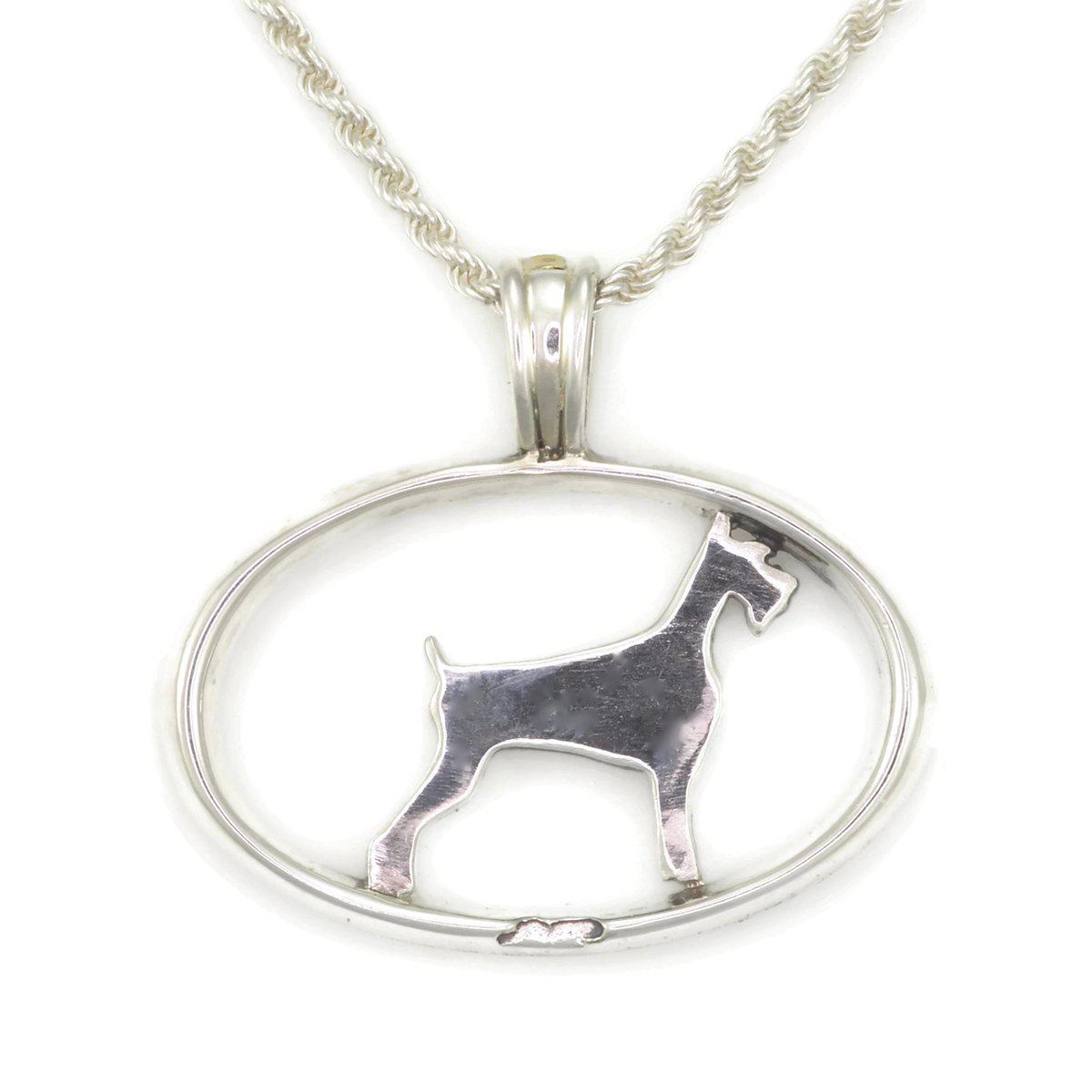 Donna Pizarro Designs Sterling Silver Giant Schnauzer Necklace With 14kt Accent VZE1HwJ