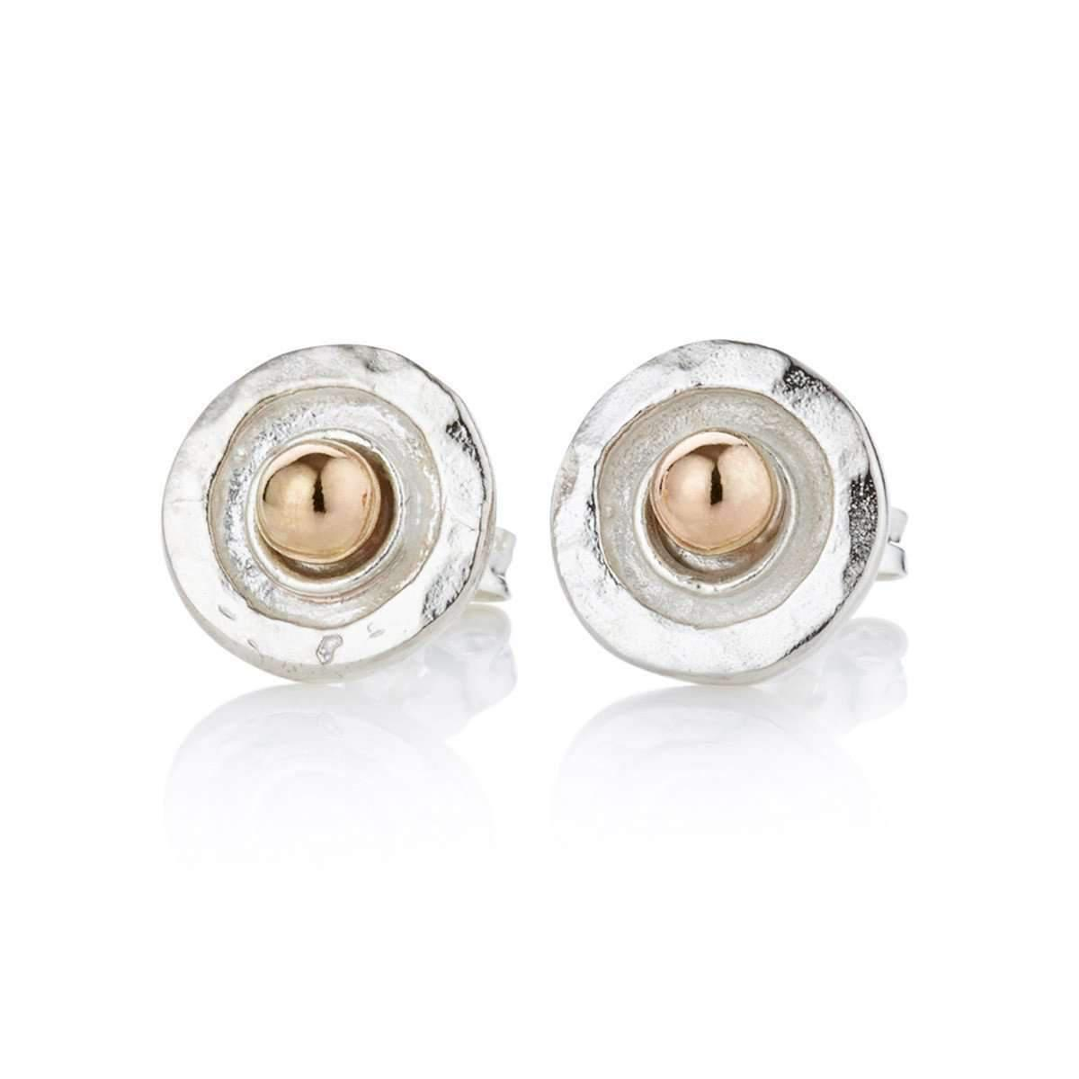 Lavan Hammered Sterling Silver Rose Gold Drop Earrings YR2kLMSEgu