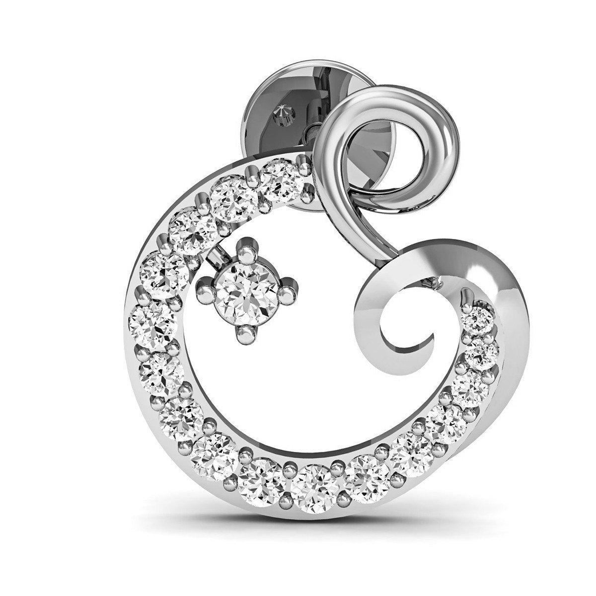 Diamoire Jewels Premium Diamond Pave EarringsInspired by Nature in 14kt White Gold
