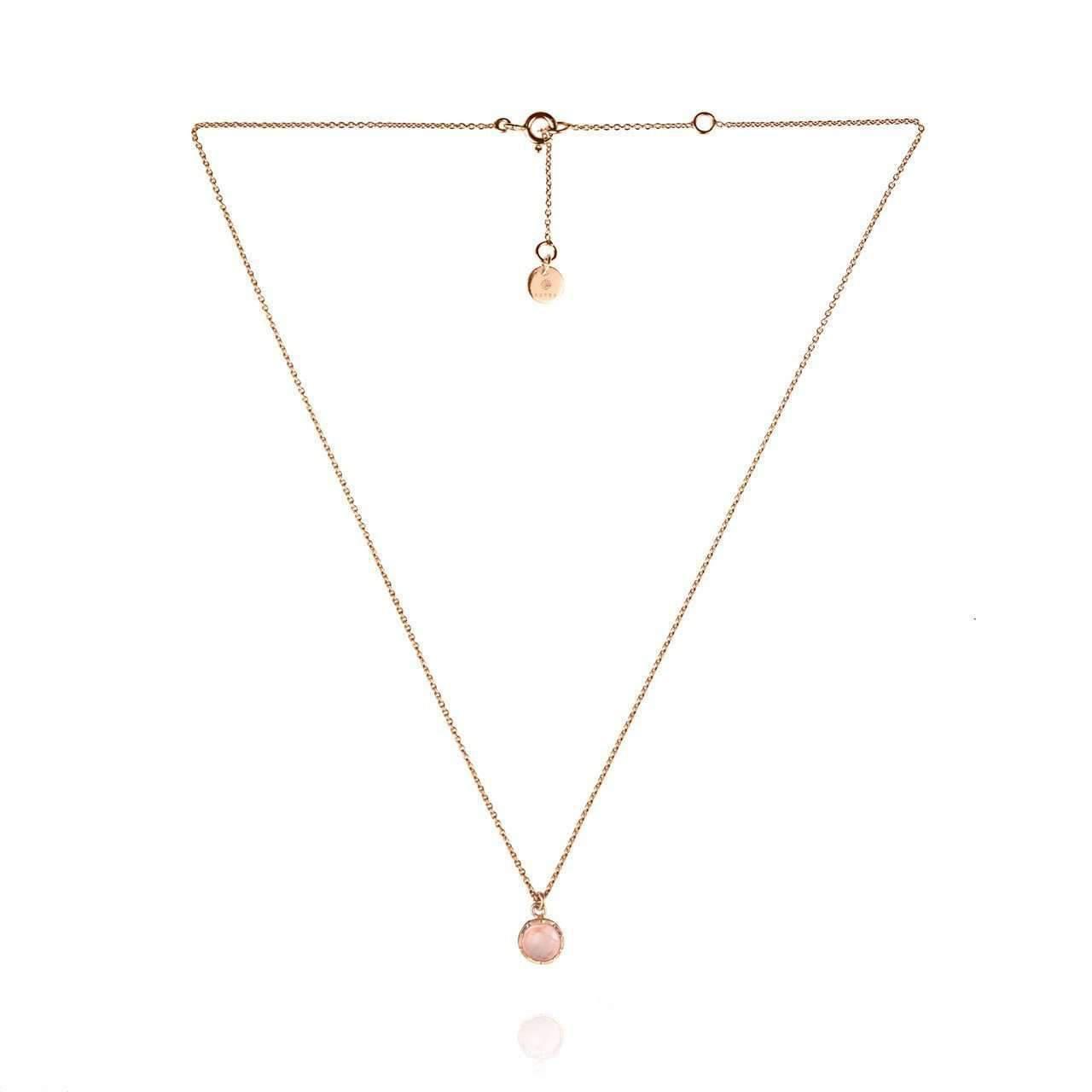 Zefyr Dosha Necklace Rose Gold With Rose Quartz URyQeOt