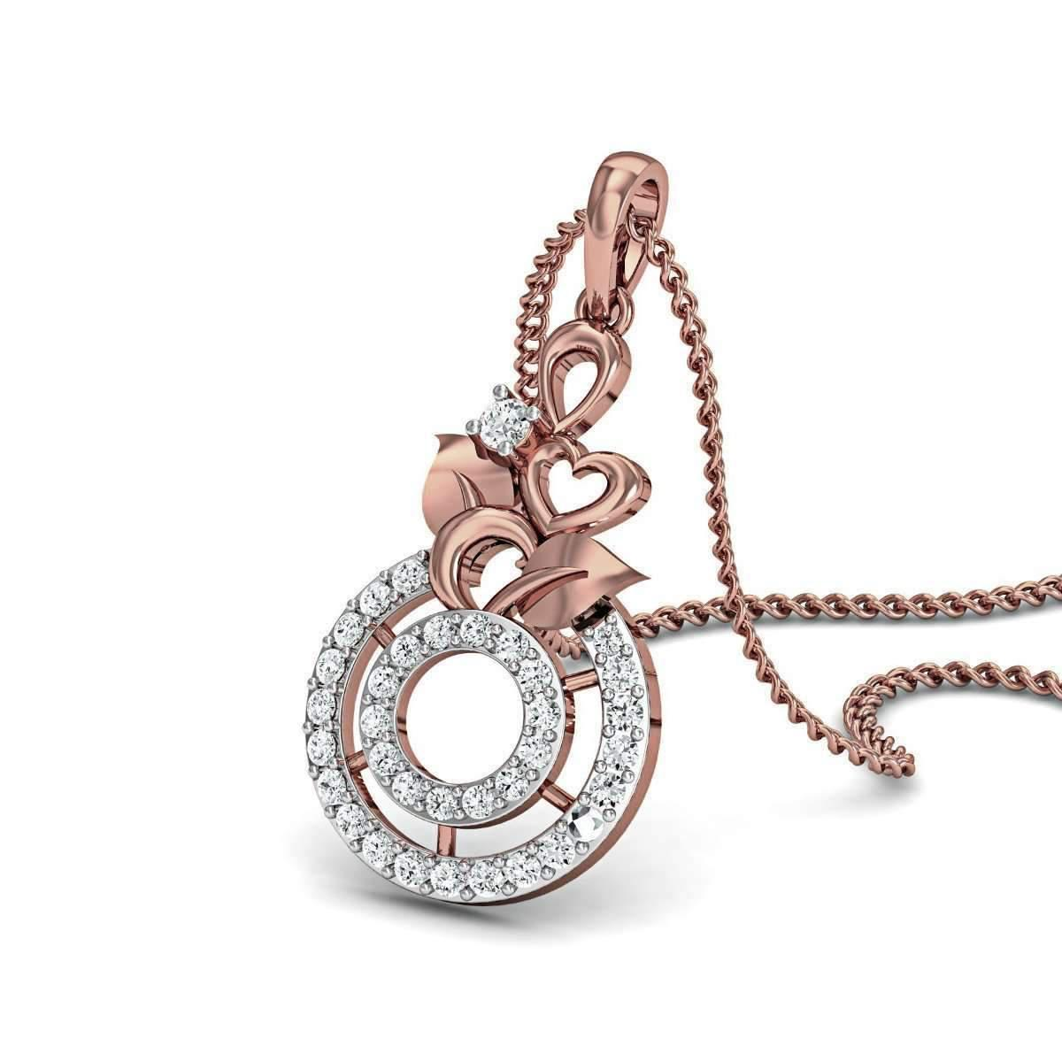 Diamoire Jewels Blooming Floret Diamond Pendant in 18kt Rose Gold g0TMsP