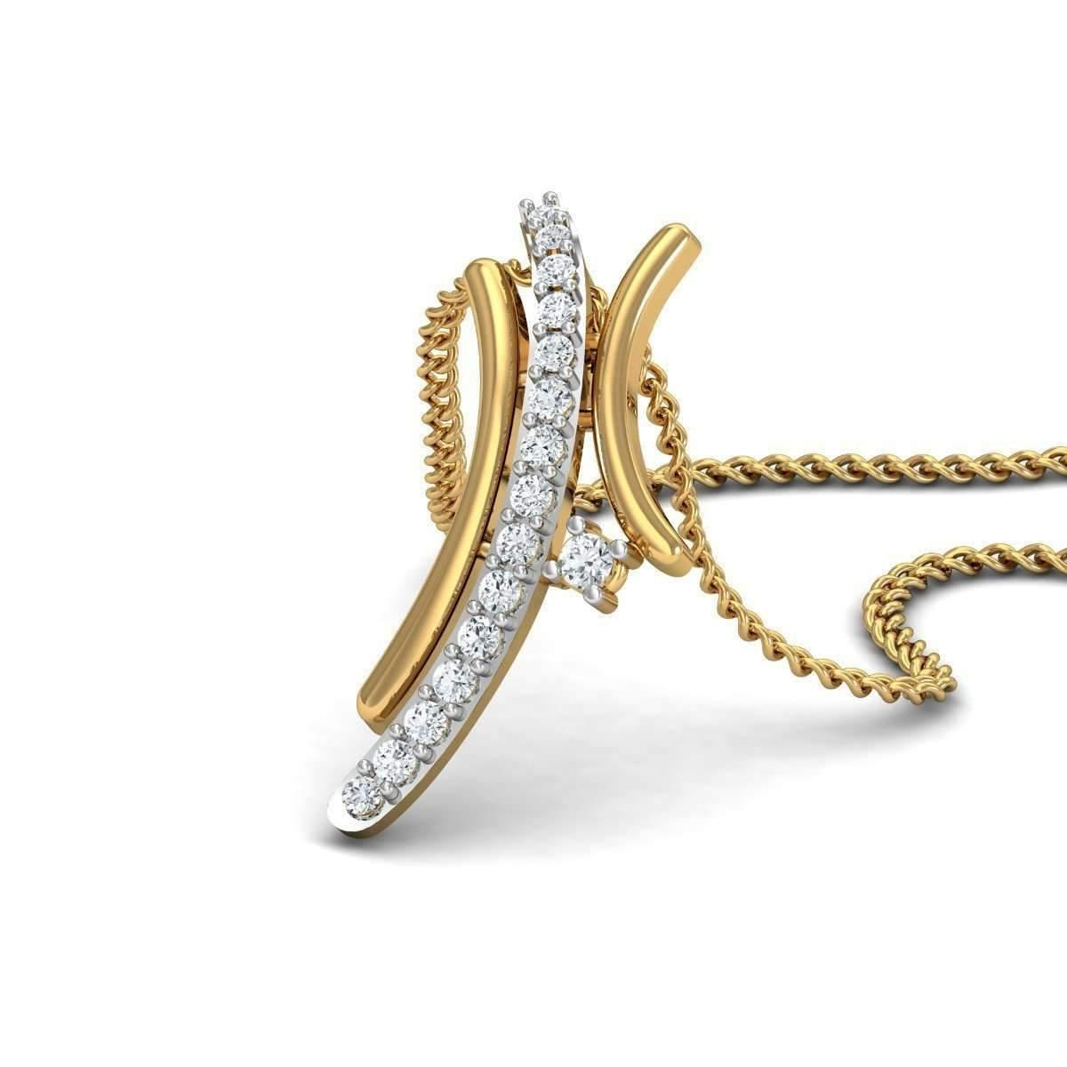 Diamoire Jewels Rill Diamond Pendant in 18Kt Yellow Gold JY0FsWQe