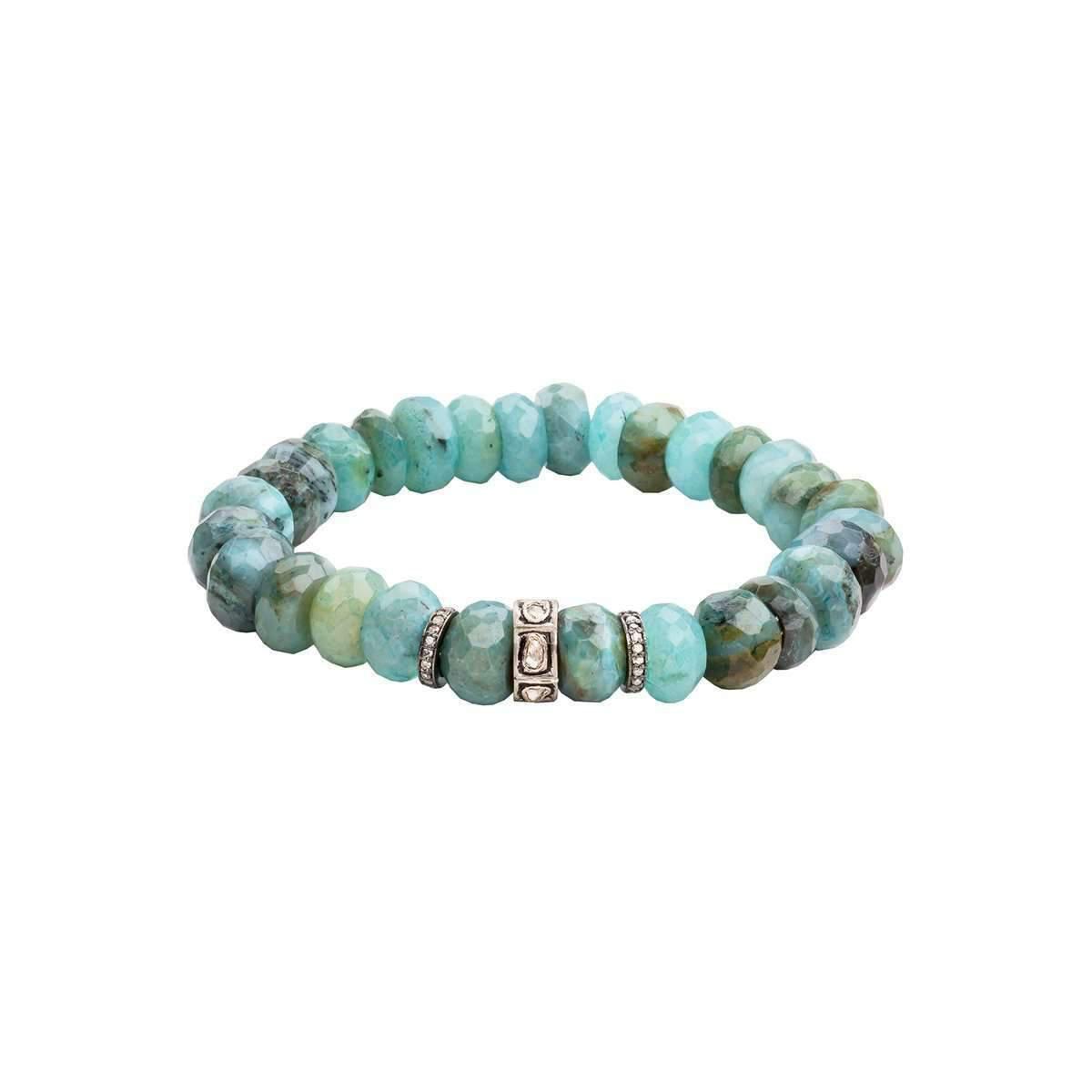 Socheec Designer Opal Diamond Bracelet x9aAxFvAy