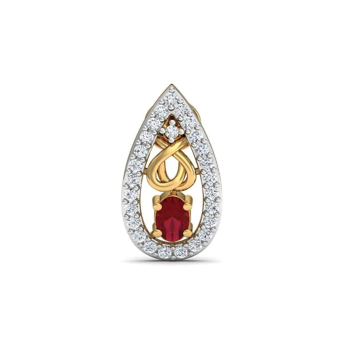 Diamoire Jewels Oval Cut African Ruby and Diamonds Hand-set in 18kt Yellow Gold 6BNWVqs