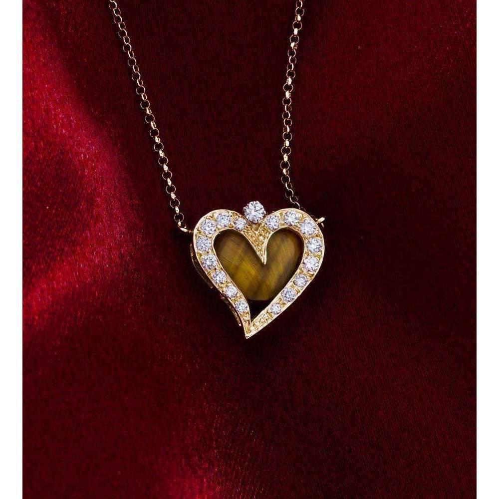 Daou Jewellery 18kt Gold & Gemstone Happy Little Heart Pendant cIwmD8Kx0