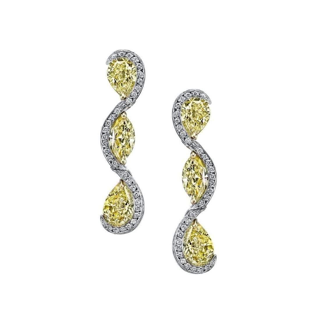 Harry Kotlar Sunny Pear shape & Marquise diamond Drop Earrings JNeUUf