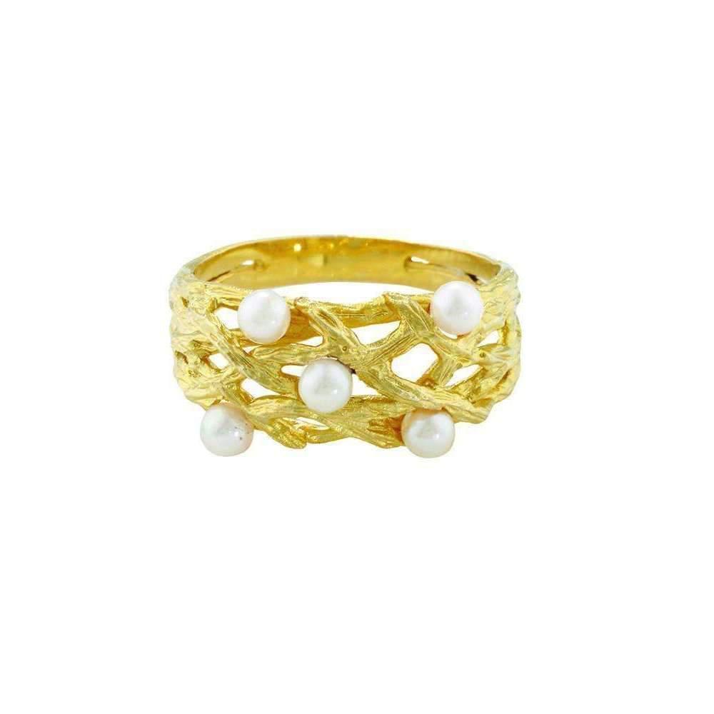London Road Jewellery Designer White Gold Multi Colour Ball Ring Trio - UK L - US 5 1/2 - EU 51 3/4 xZrZkx