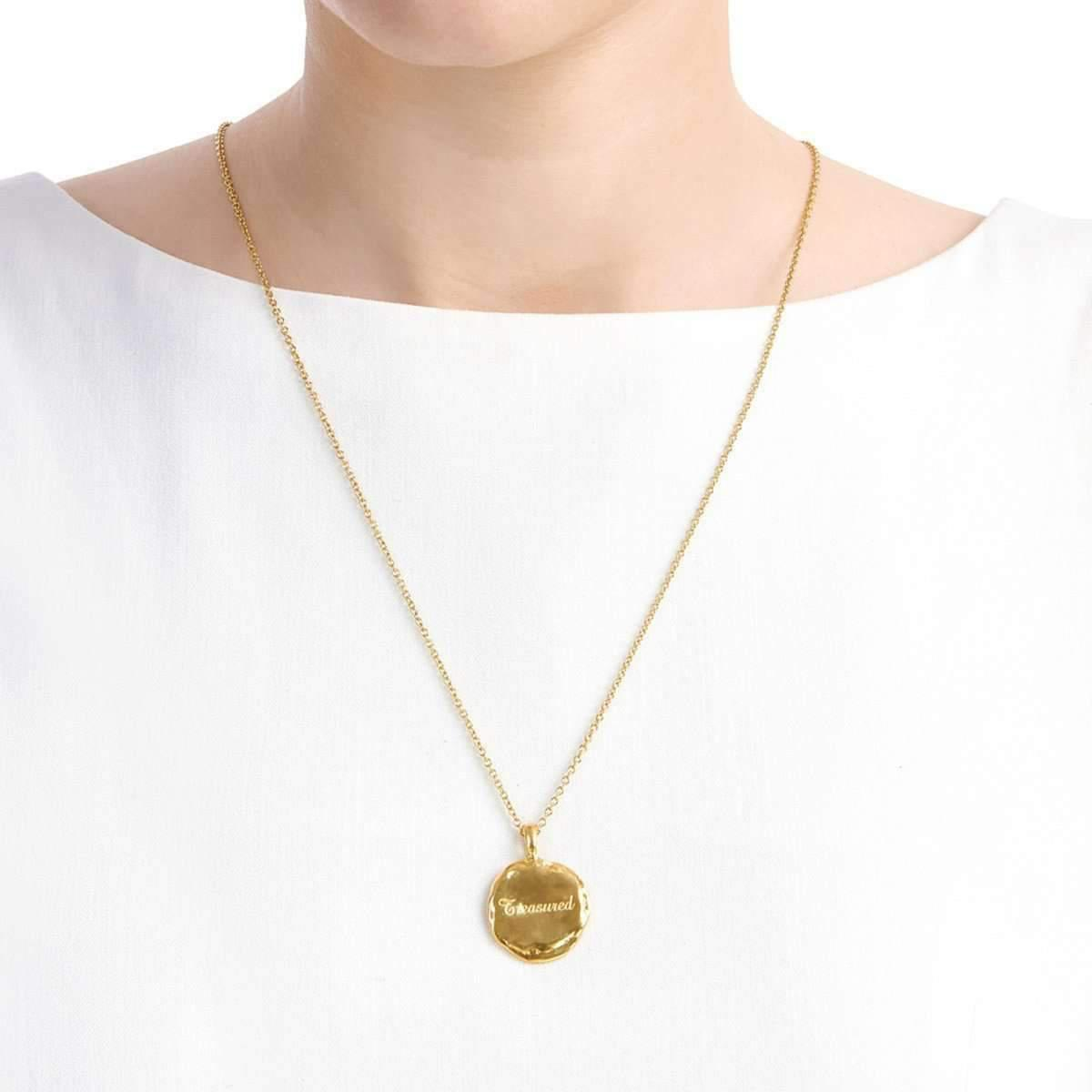 Deborah Blyth Jewellery Personalised Verity Rose Gold Necklace JxxqnZFaVL