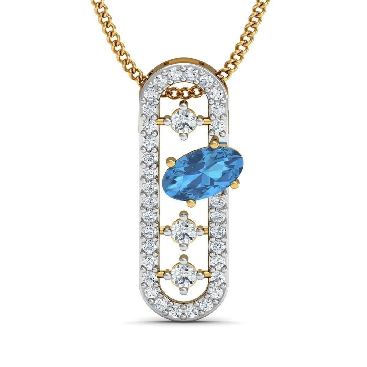 Diamoire Jewels Premium Diamonds and Hand-carved 14kt Yellow Gold Nature Inspired Pendant bTQdmLTV