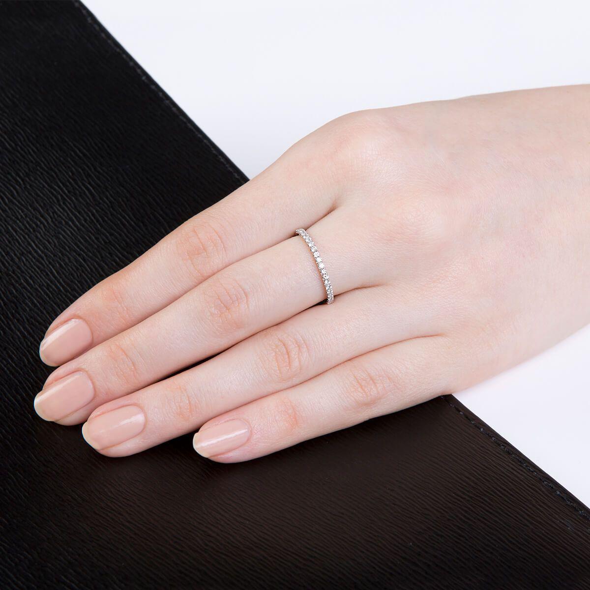 Lyst - Verifine London Green Garnet Full Eternity Ring In 18kt White ...