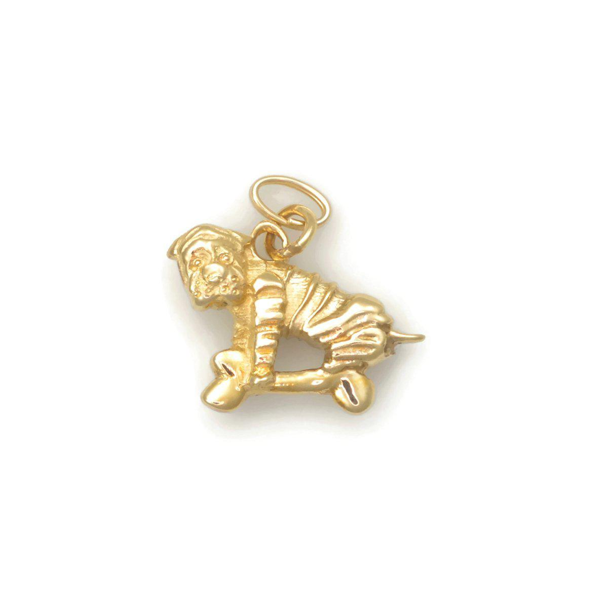 Donna Pizarro Designs 14kt Yellow Gold Chinese Shar Pei Charm