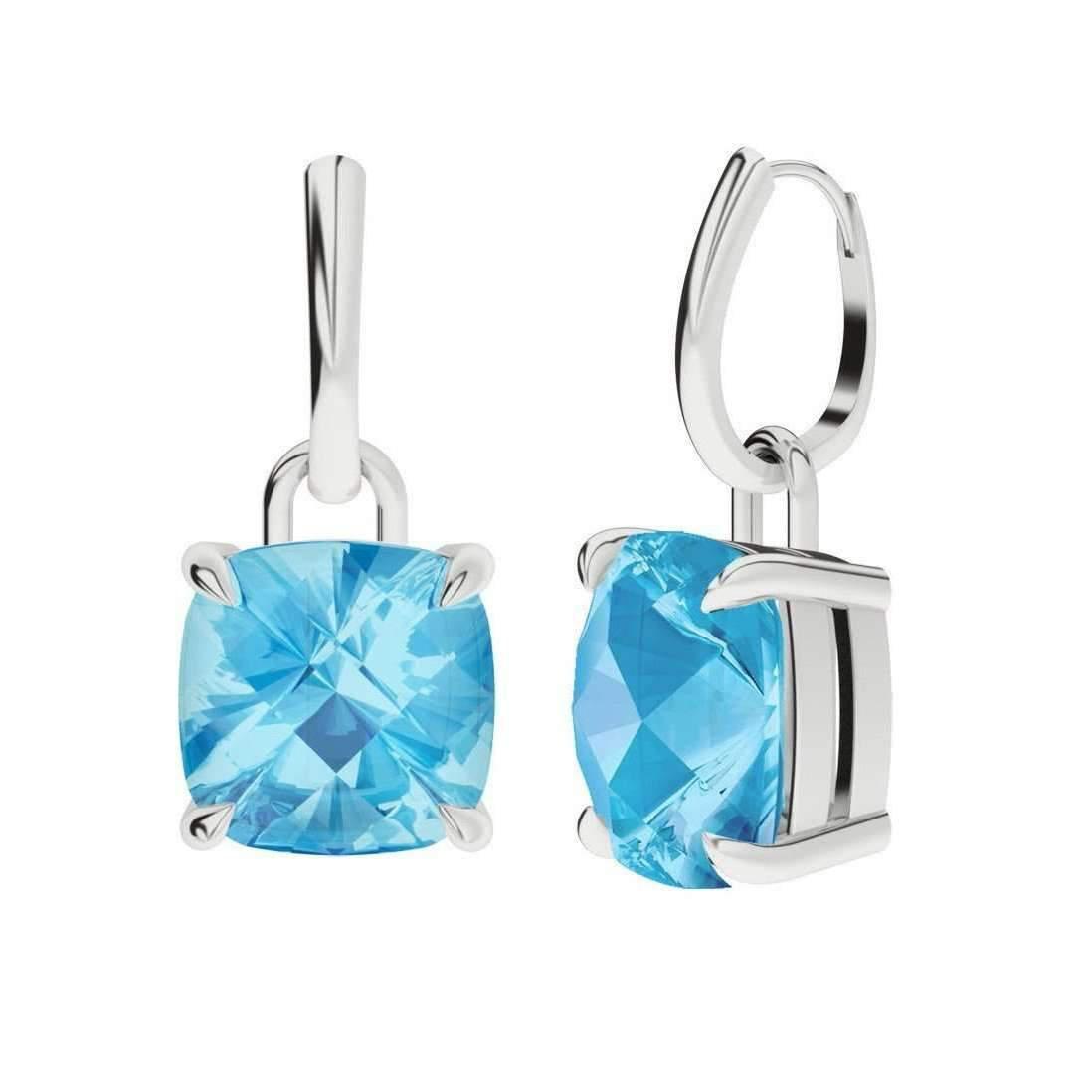 StyleRocks Rose Quartz 9kt White Gold And Diamond Drop Earrings VX941b