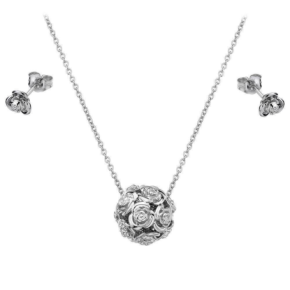 Lily & Lotty Rose Necklace & Earrings Set R20aj68d