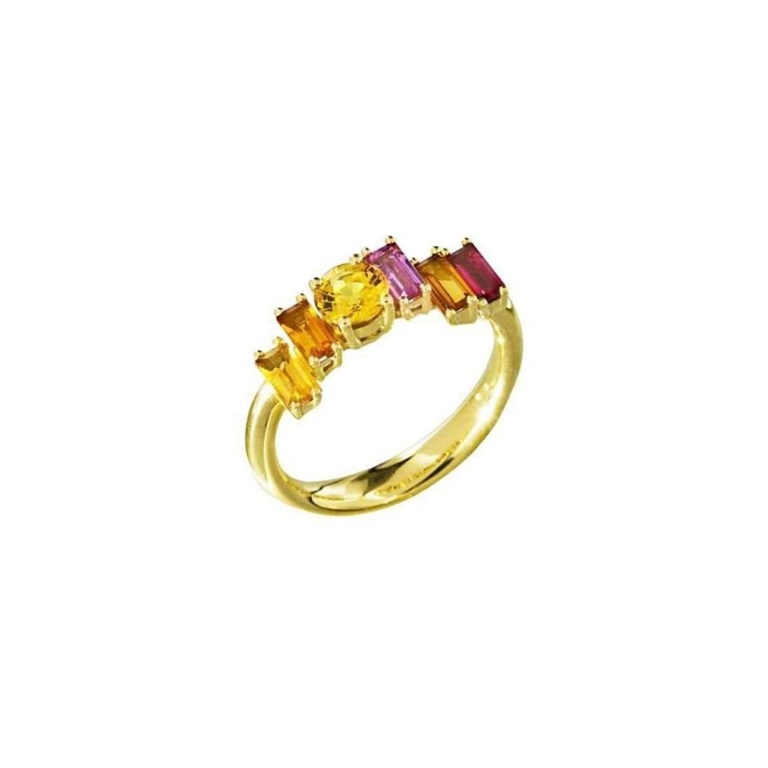 Daou Jewellery 18kt White Gold, Pearl & Topaz Morning Light Ring - UK O - US 7 - EU 55 1/4