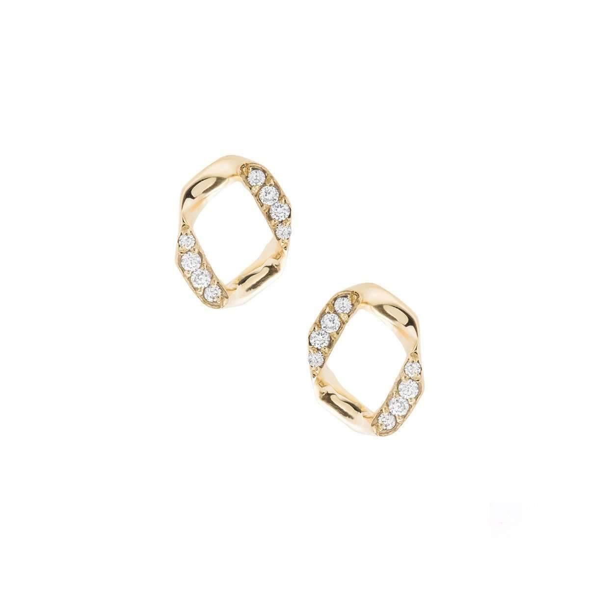Joanna Laura Constantine Link Pave Stud Earrings JejqwBNi