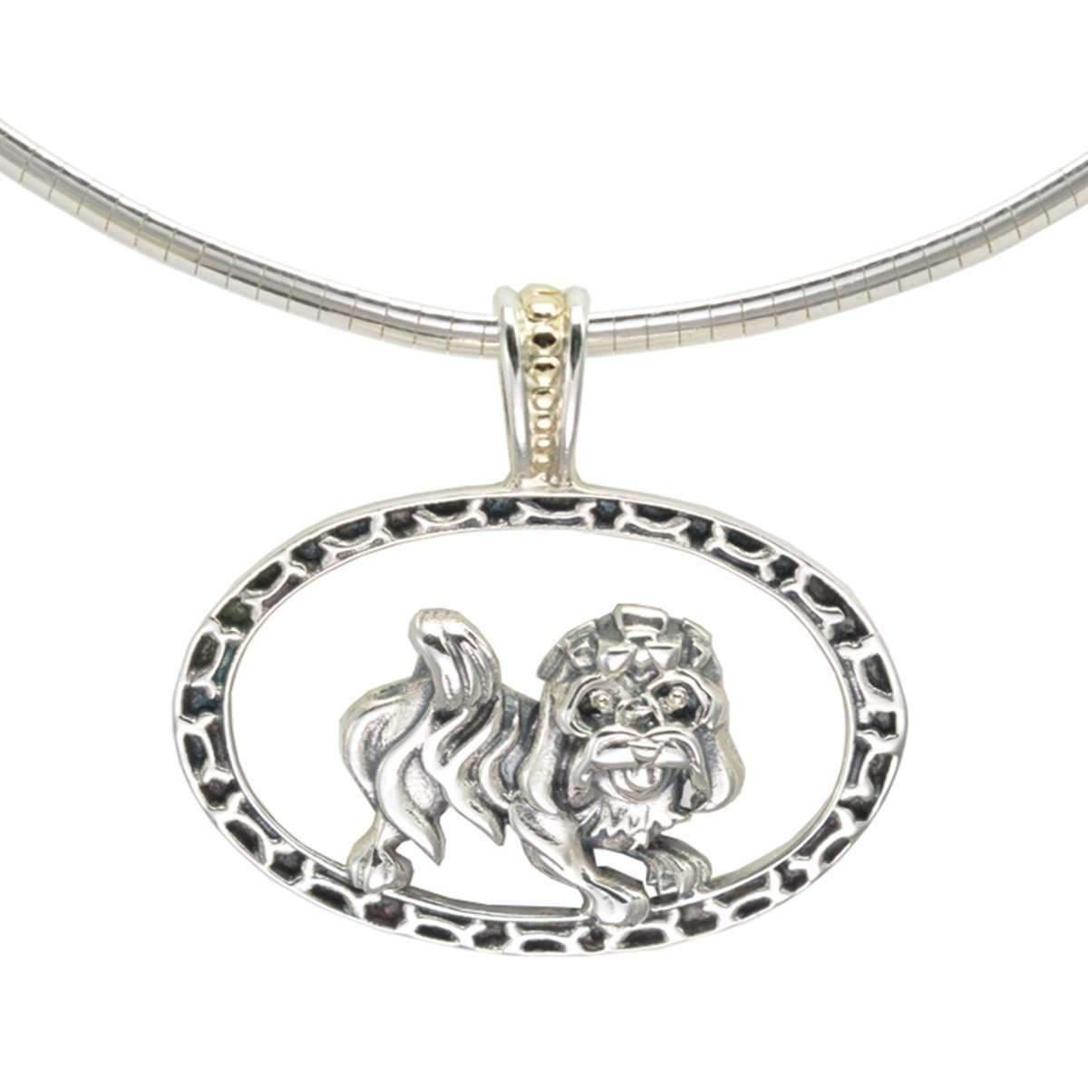 Donna Pizarro Designs Sterling Havanese Necklace With 14kt Accent 0YIhmd