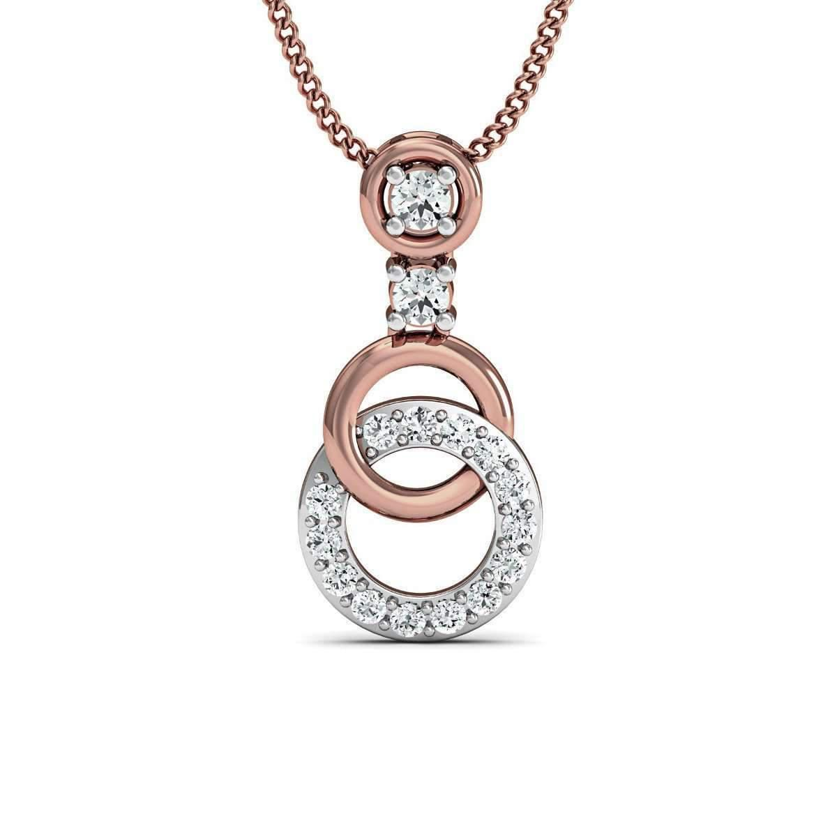 Diamoire Jewels Luxurious Bangled Pendant in 18kt Rose Gold HmigLQ